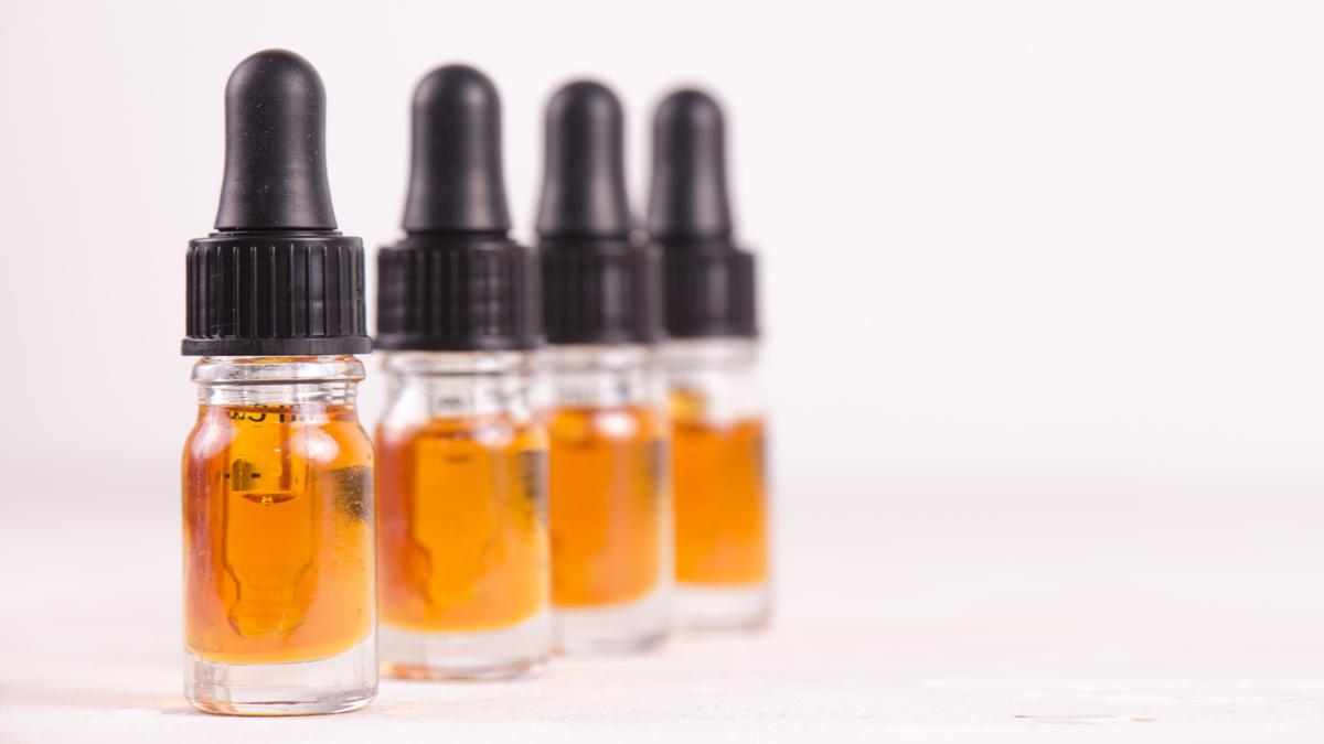 CBD Oil Bottles on white background
